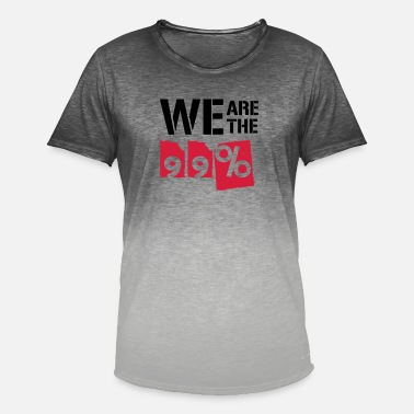 We Are The 99 Percent We are the 99 percent - Men's Colour Gradient T-Shirt