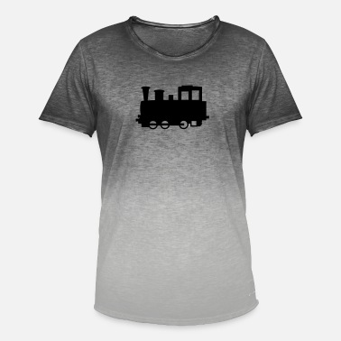 Locomotive À Vapeur Locomotive à vapeur - Locomotive - T-shirt dégradé Homme