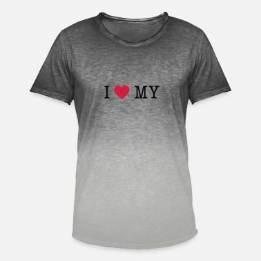 I Love My i love my - Men's Colour Gradient T-Shirt