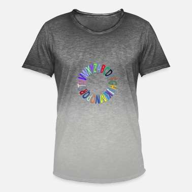 alphabet - Men's Colour Gradient T-Shirt