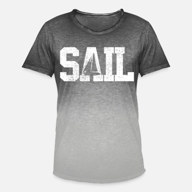 Sailing Sailing Sailing Sailing - Men's Colour Gradient T-Shirt
