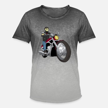 Chopper Chopper bikers - T-shirt med färgtoning herr