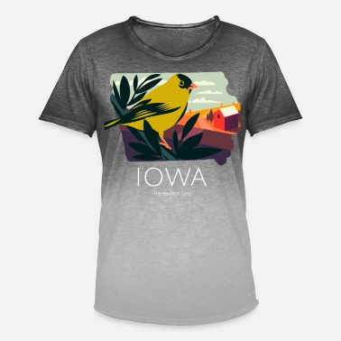 Hawkeye Iowa Proud State Motto The Hawkeye State produkt - T-shirt med färgtoning herr