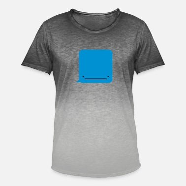 Text Message Whale ( Text Message ) - Men's Colour Gradient T-Shirt