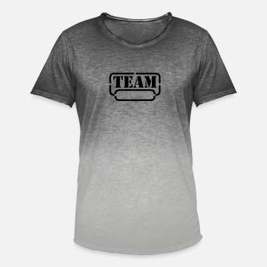name your team - T-shirt med färgtoning herr