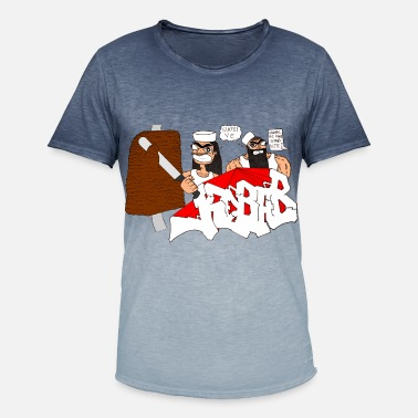 Kebab KEBAB - Herre T-shirt i colour-block-optik