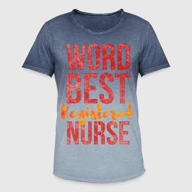 world best registered nurse distressed  typography - Men's T-Shirt with colour gradients