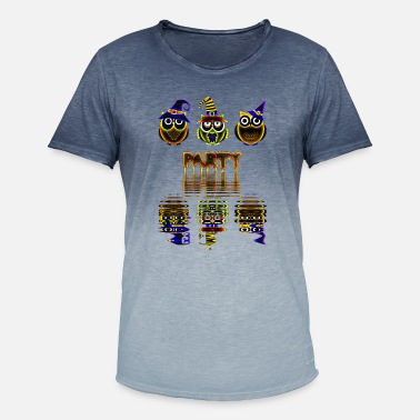 Colorful Crew Halloween party crew owls colorful - Men's T-Shirt with colour gradients