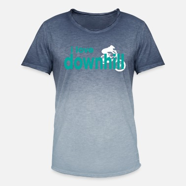 I Love Downhill I love downhill - Men's T-Shirt with colour gradients