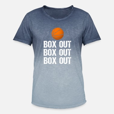 Out Basketball Coach Box Out Saying - Men's Colour Gradient T-Shirt