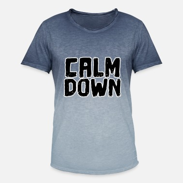 Calm The Fuck Down Koldt siger Calm Down Funny saying - Herre T-shirt i colour-block-optik