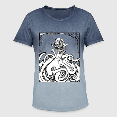 Tentacle Lady - Men's T-Shirt with colour gradients