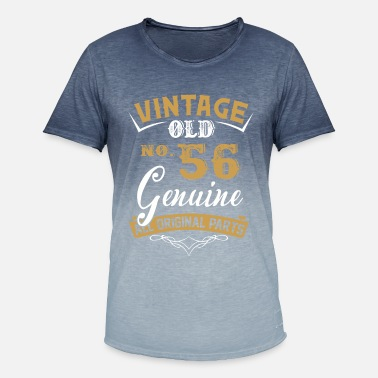 Made In 1963 All Original Parts Vintage 56 Years Old All Original Part - Men's T-Shirt with colour gradients
