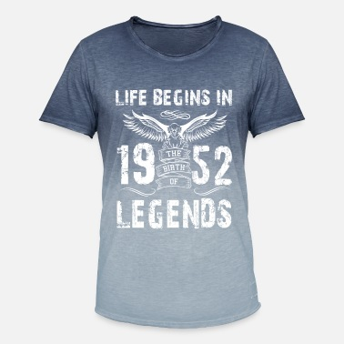 1952 Life Begin In 1952 Legends - Men's Colour Gradient T-Shirt