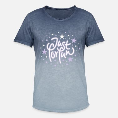 J4f just for fun - stars (b) - Men's T-Shirt with colour gradients