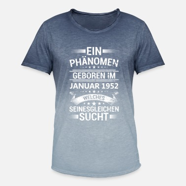 Fænomen Et fænomen født i januar 1952 - Herre T-shirt i colour-block-optik