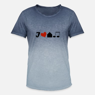 I Love House I Love House Music - Mannen T-shirt met kleurverloop