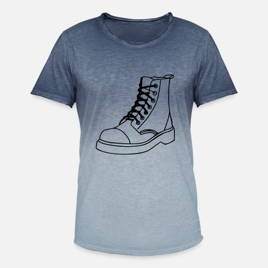 Boots T-Shirts - boots - Men's Colour Gradient T-Shirt dip dye denim