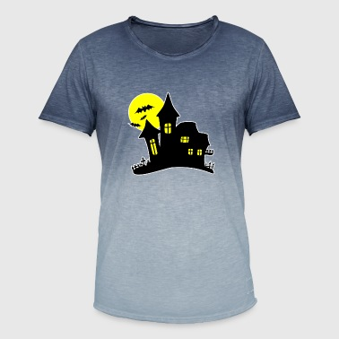 Halloween Haunted House Haunted House - Men's T-Shirt with colour gradients
