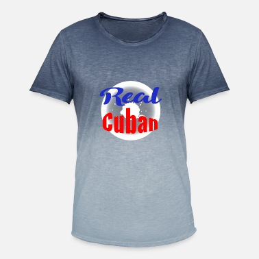 Cuban Real Cuban - T-shirt med färgtoning herr