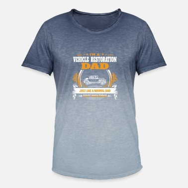 Vehicle Restoration Dad Shirt Gift Idea - Men's Colour Gradient T-Shirt