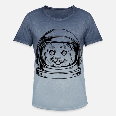 Cat Helmet Cosmonaut Cat 1 - Cat's head in cosmonaut helmet - Men's T-Shirt with colour gradients