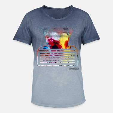 Printe Printer - Herre T-shirt i colour-block-optik