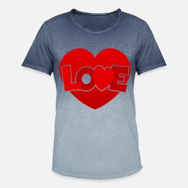 Love With Heart Love with heart - Men's Colour Gradient T-Shirt