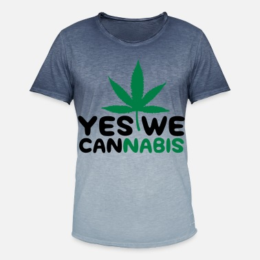Yes We Cannabis Yes we Cannabis! - T-shirt med färgtoning herr