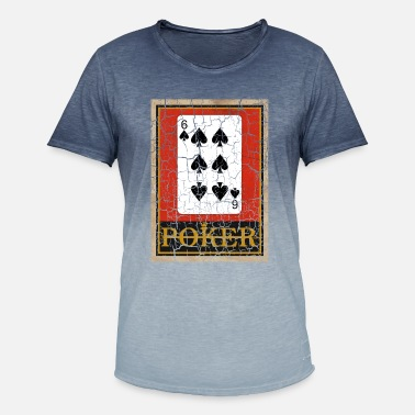 Relaxeation SIX OF SPADES POKER PLAYING CARD GAME - Men's Colour Gradient T-Shirt