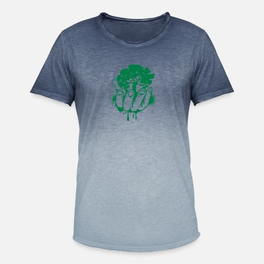 Held A tree held by a hand - Men's Colour Gradient T-Shirt