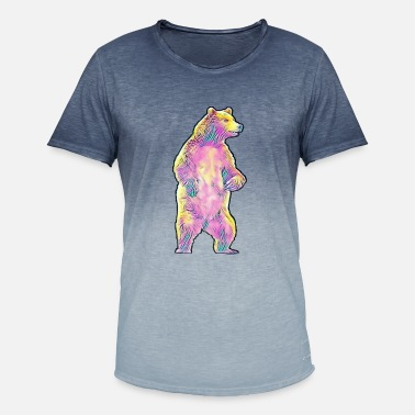 Grizzly Grizzly - Männer Farbverlauf T-Shirt