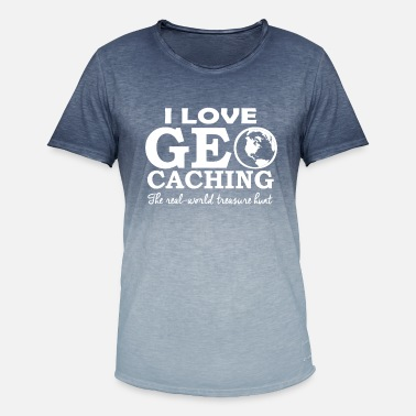 Caching geo caching - Men's Colour Gradient T-Shirt