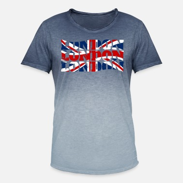 London Union Jack Flagge London Flagge - Männer Farbverlauf T-Shirt