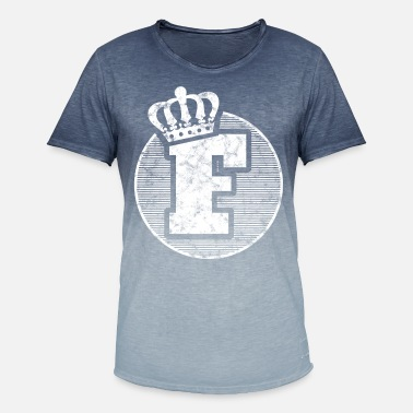Crown Stylish letter F with crown - Men's Colour Gradient T-Shirt