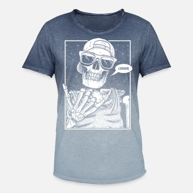South Lekker Skeleton White - Men's Colour Gradient T-Shirt