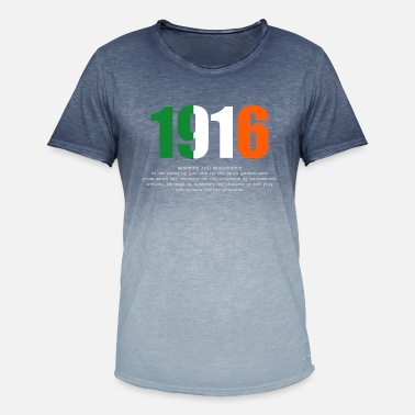 1916 1916 Easter Rising and Proclamation Omens Long-sle - Men's Colour Gradient T-Shirt