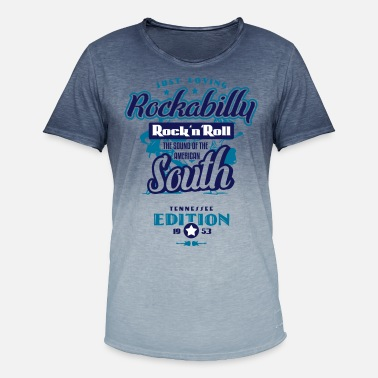 Southern Just Loving Rockabilly - The Sound of the South - Männer Farbverlauf T-Shirt