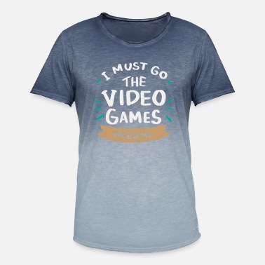 Computer Science GAMING I must go the video games need me - Men's Colour Gradient T-Shirt