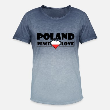 Poland Poland flag - Poland - Men's Colour Gradient T-Shirt