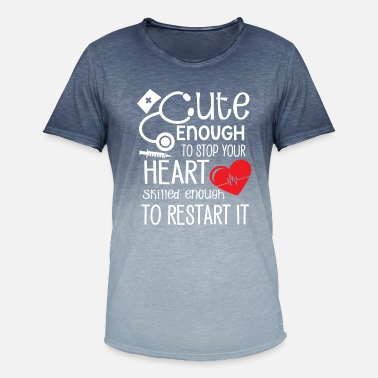 Stop Cute Enough to stop your heart skilled enough - T-shirt i colour-block-optik mænd