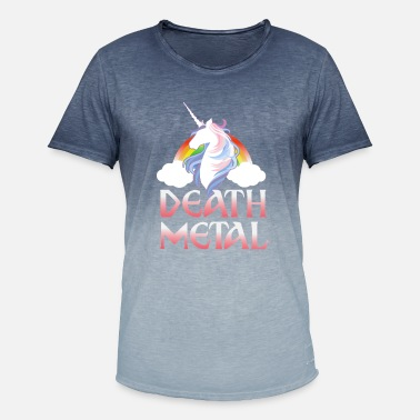Taste Death Metal - magical rainbow unicorn - Männer Farbverlauf T-Shirt