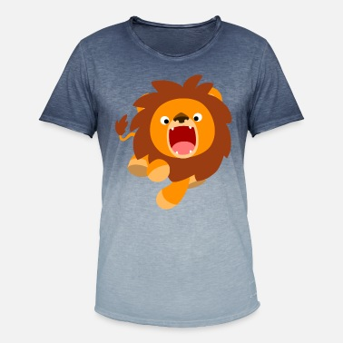 Cute Frisky Cartoon Lion by Cheerful Madness!! - Men's Colour Gradient T-Shirt