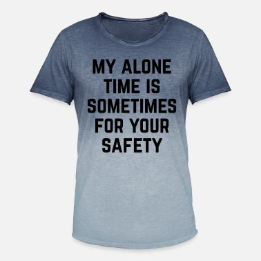 Time Alone Time Funny Quote - T-shirt i colour-block-optik mænd