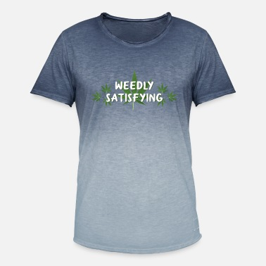 Satisfied we're satisfying - Men's Colour Gradient T-Shirt