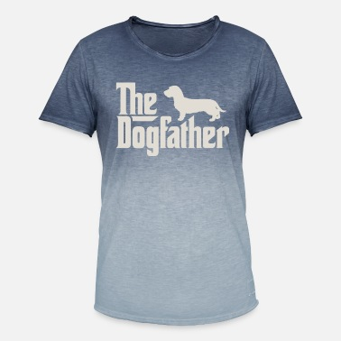 Dachshund The Dogfather - Dachshund, Wire-haired Dachshund, Teckel - Men's Colour Gradient T-Shirt