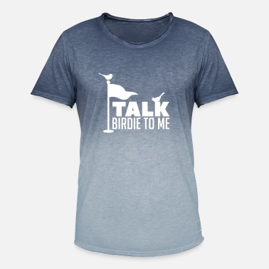 Birdie Talk Birdie To Me Cool Putt Golf Course Flag Goal - T-shirt i colour-block-optik mænd