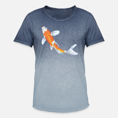 Koi Koi, fisk, farverig - T-shirt i colour-block-optik mænd