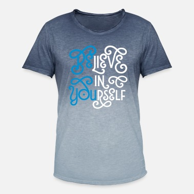 Gráfico Believe In Yourself (Be You) - Camiseta degradada hombre