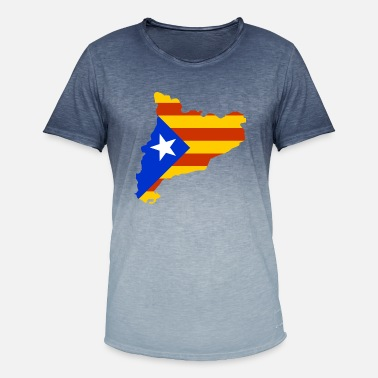 Katalonia Kartta Lippu Miesten Premium T Paita Spreadshirt